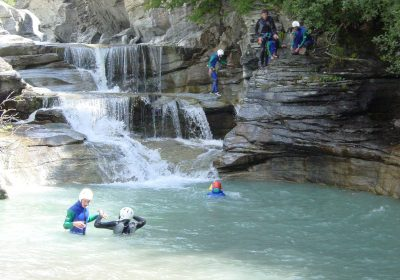 Guided canyoning