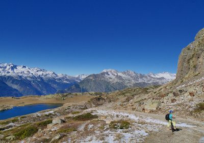 E-bike lake tour from Alpe d'Huez